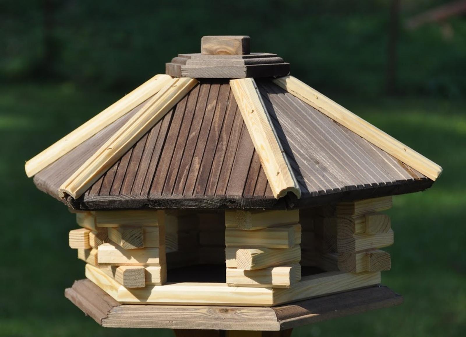 Vogelhaus 6-eckig ohne Futtersilo – Bild 6