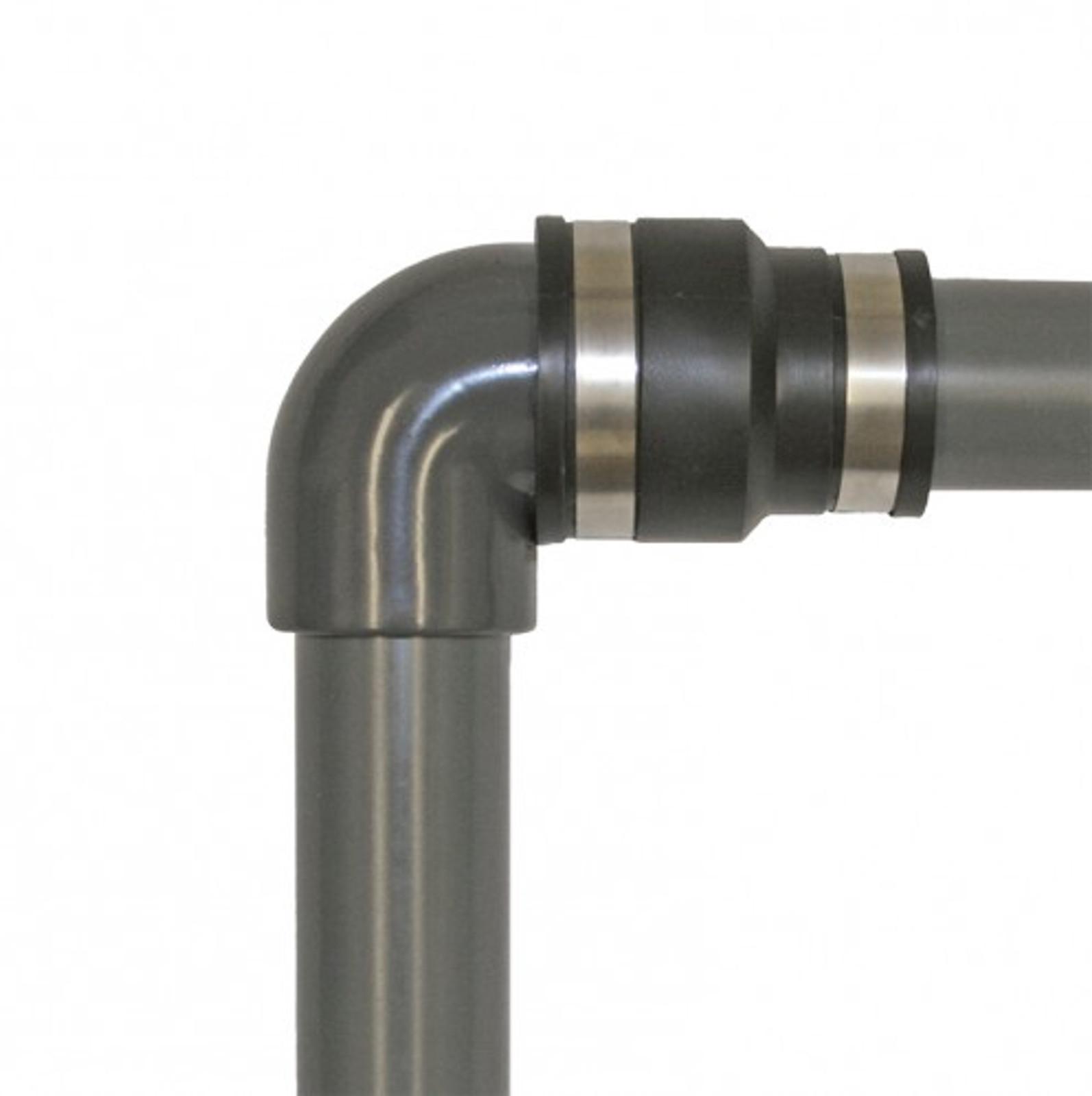 Flex. PVC-Manschette, Reduz.  Ø 90-82 mm / 63-57 mm – Bild 3