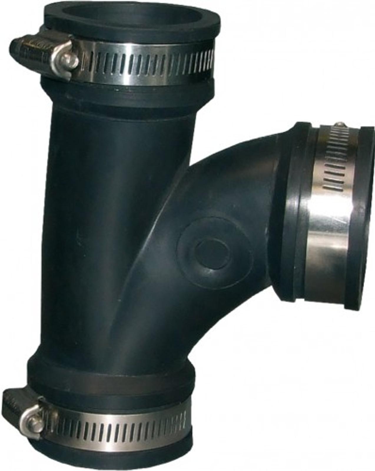 Flex. PVC-Manschette, T-Stück 90°, Ø 115-102 mm
