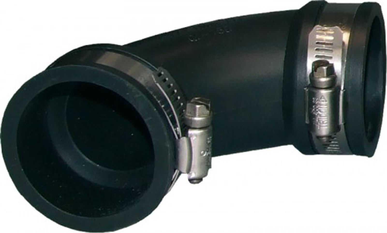 Flex. PVC-Manschette, 90° Bogen, Ø 90-75 mm