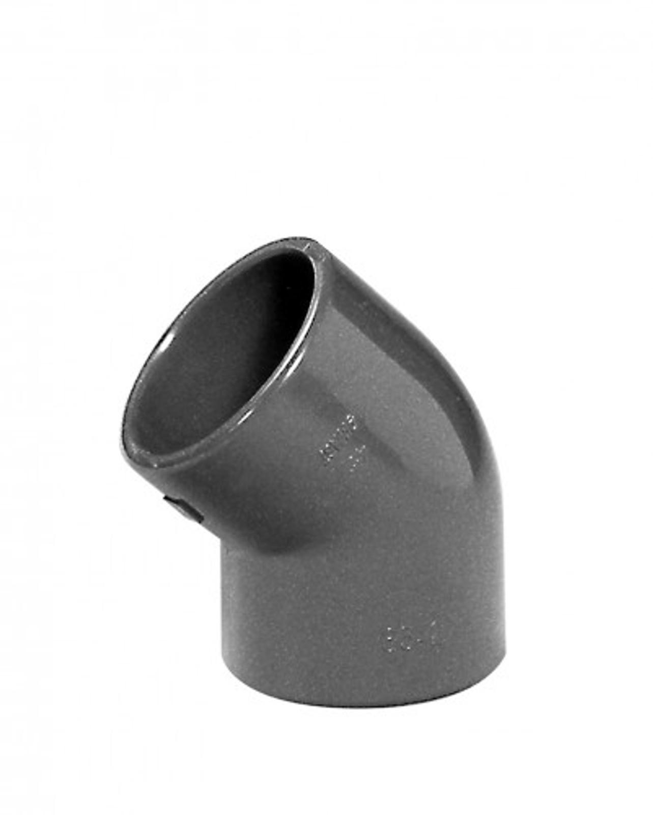 Winkel 45°, 75 mm aus PVC