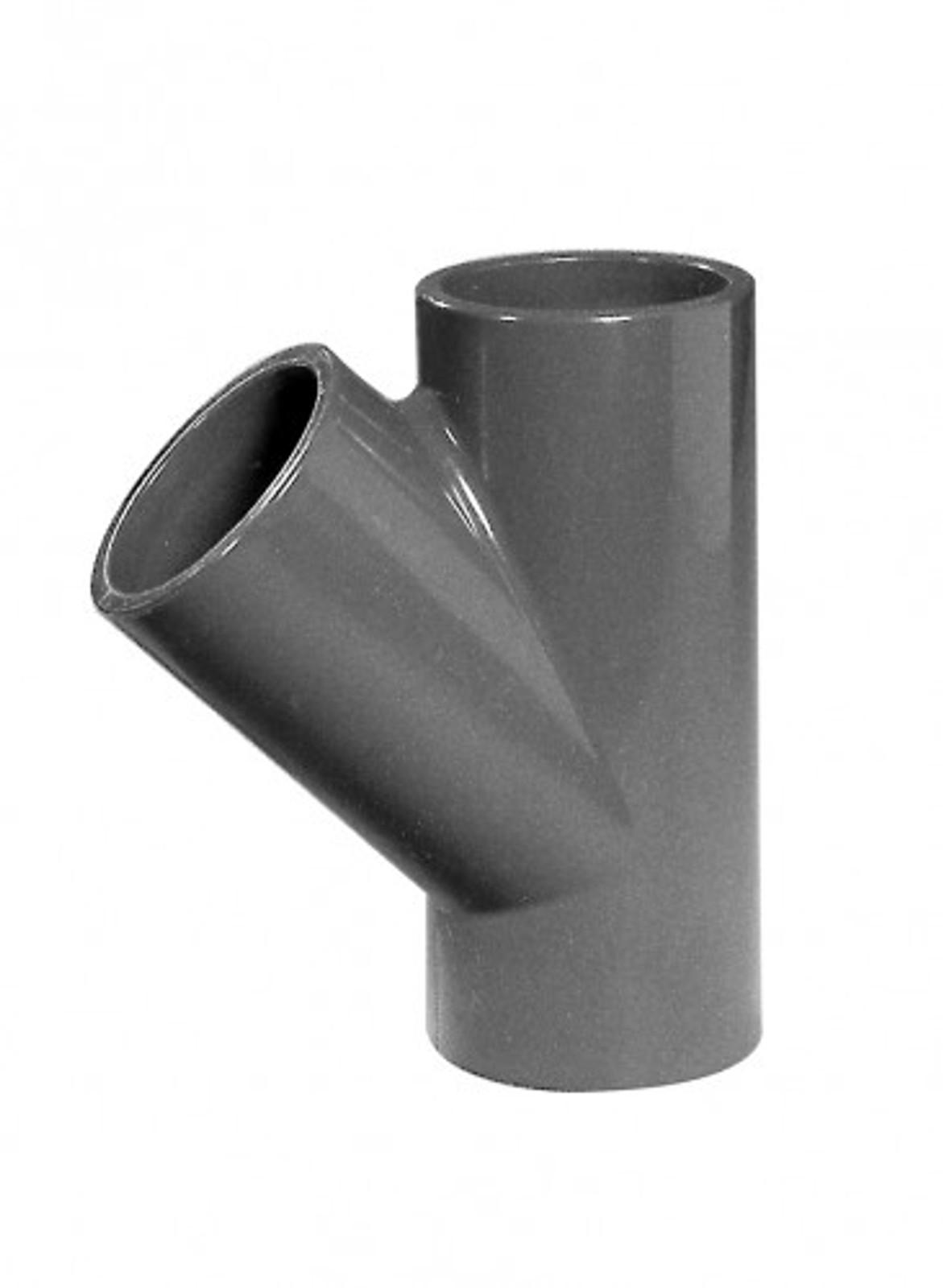 T-Stück 45°, 63 mm aus PVC