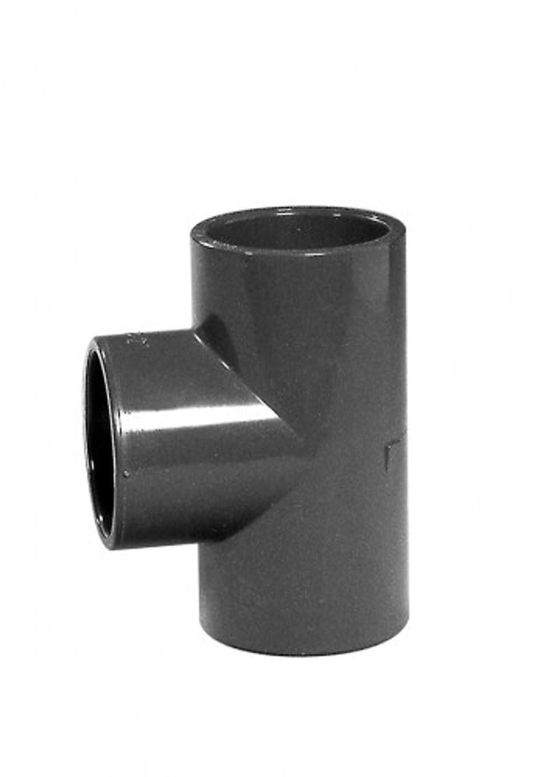 T-Stück 90°, 90 mm aus PVC