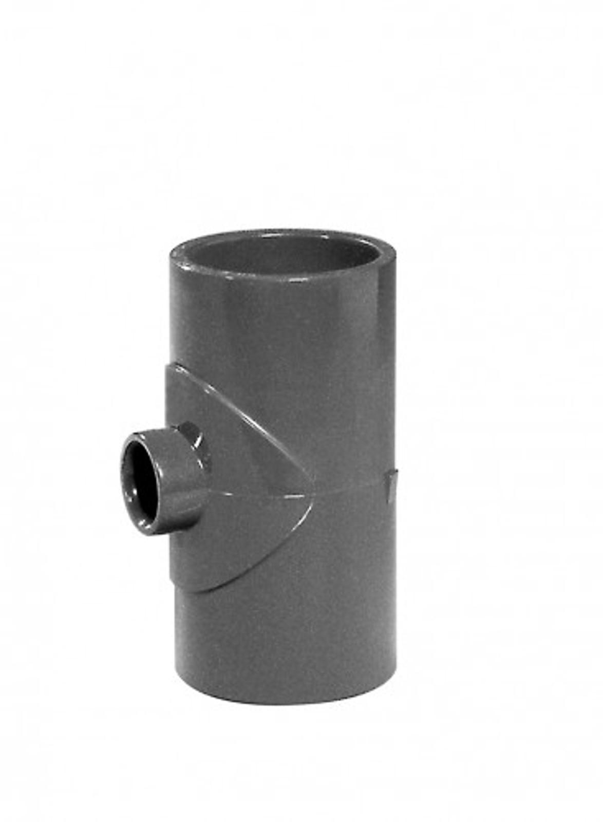 T-Stück 90° reduziert 63 x 32 x 63 mm aus PVC