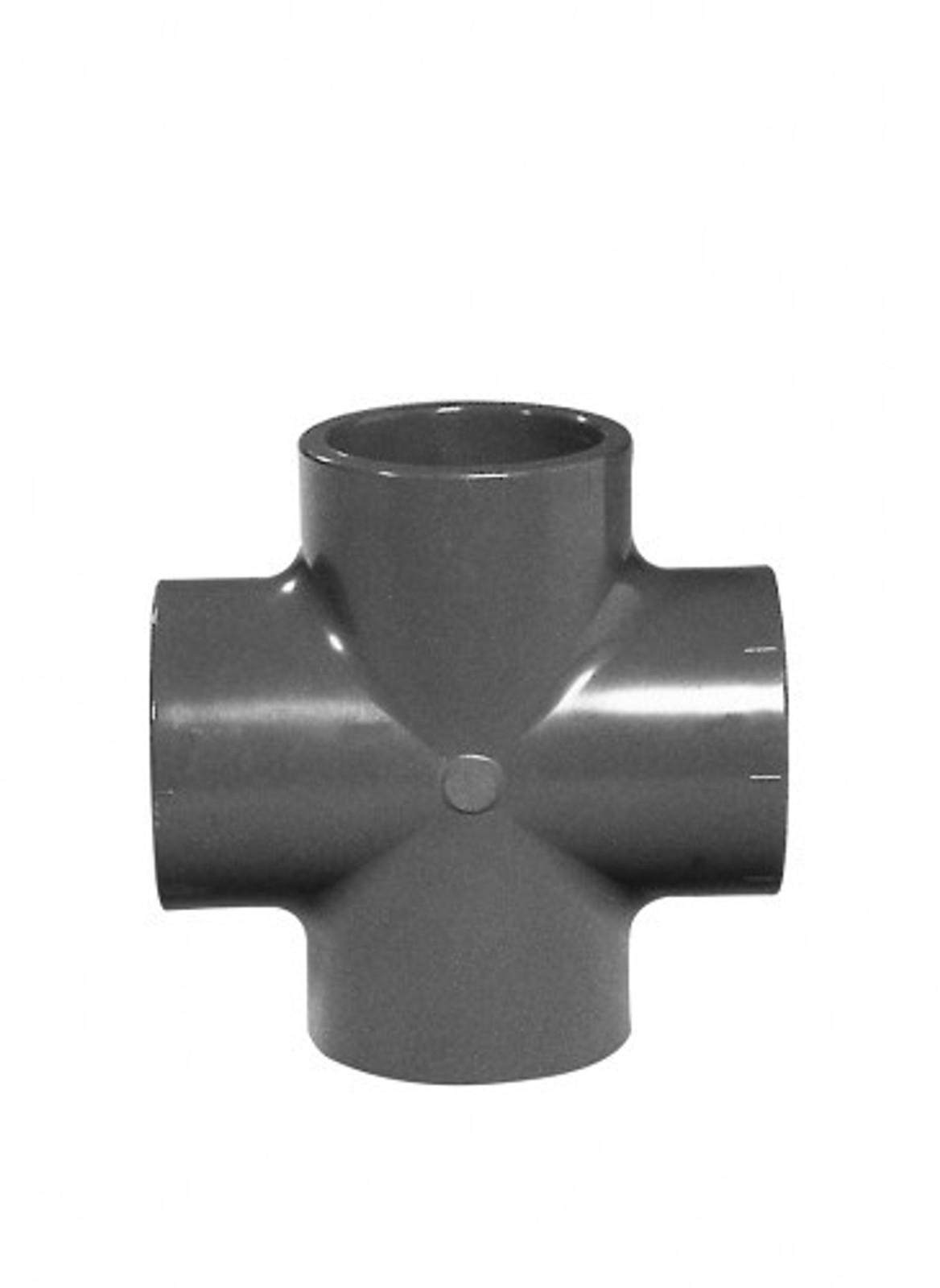 Kreuzstück 90°, 63 mm aus PVC