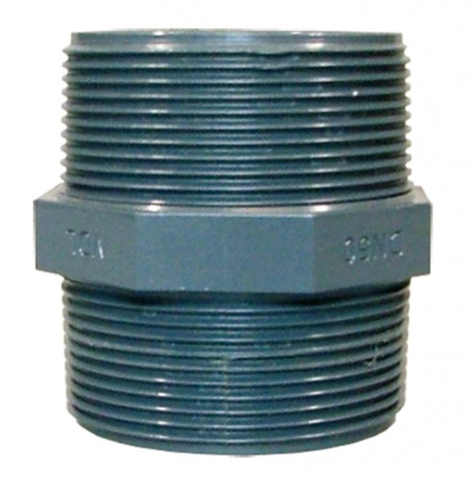 """Doppelnippel m. AG  2"""" aus PVC"""