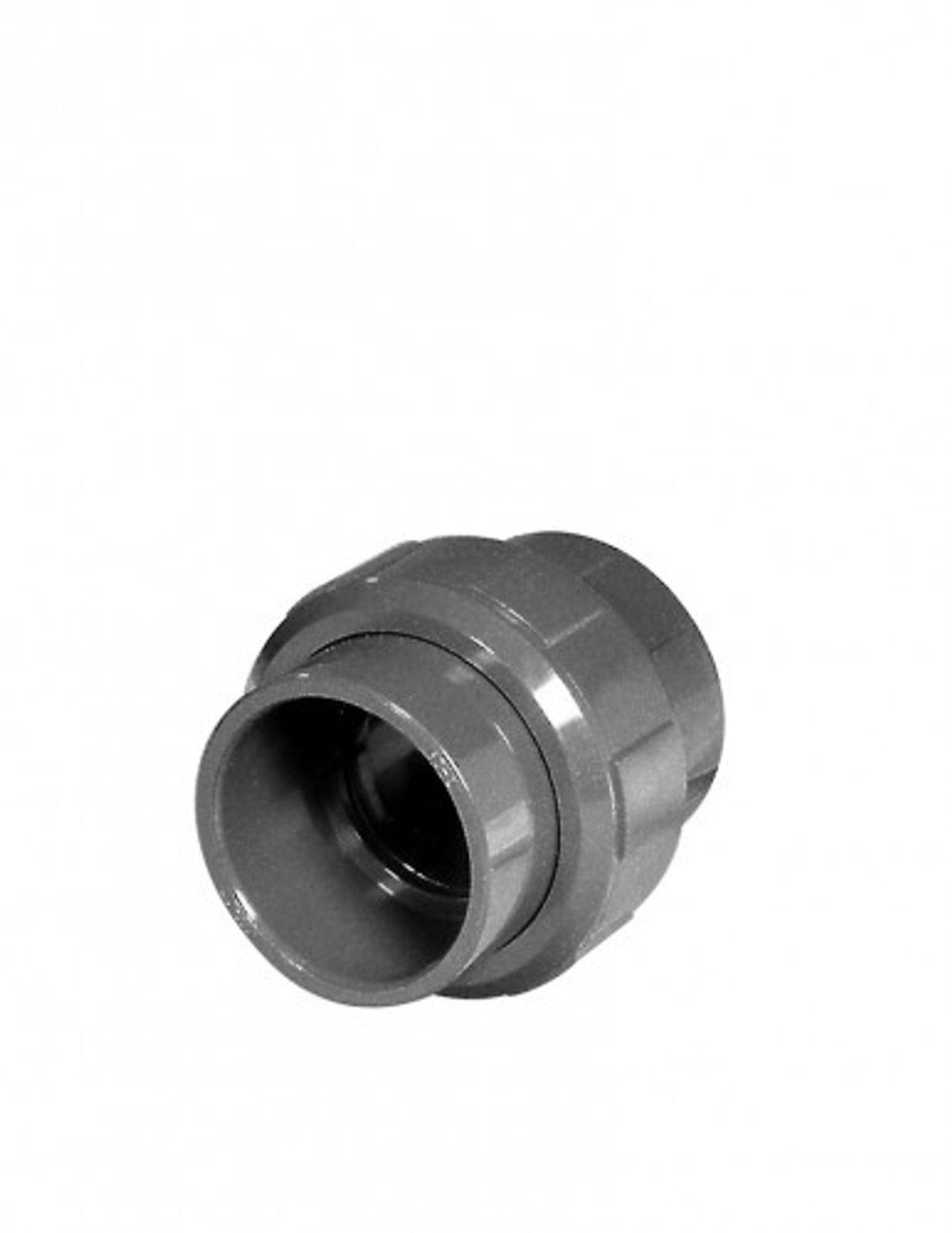 Kupplung m. O-Ring, 50 mm aus PVC