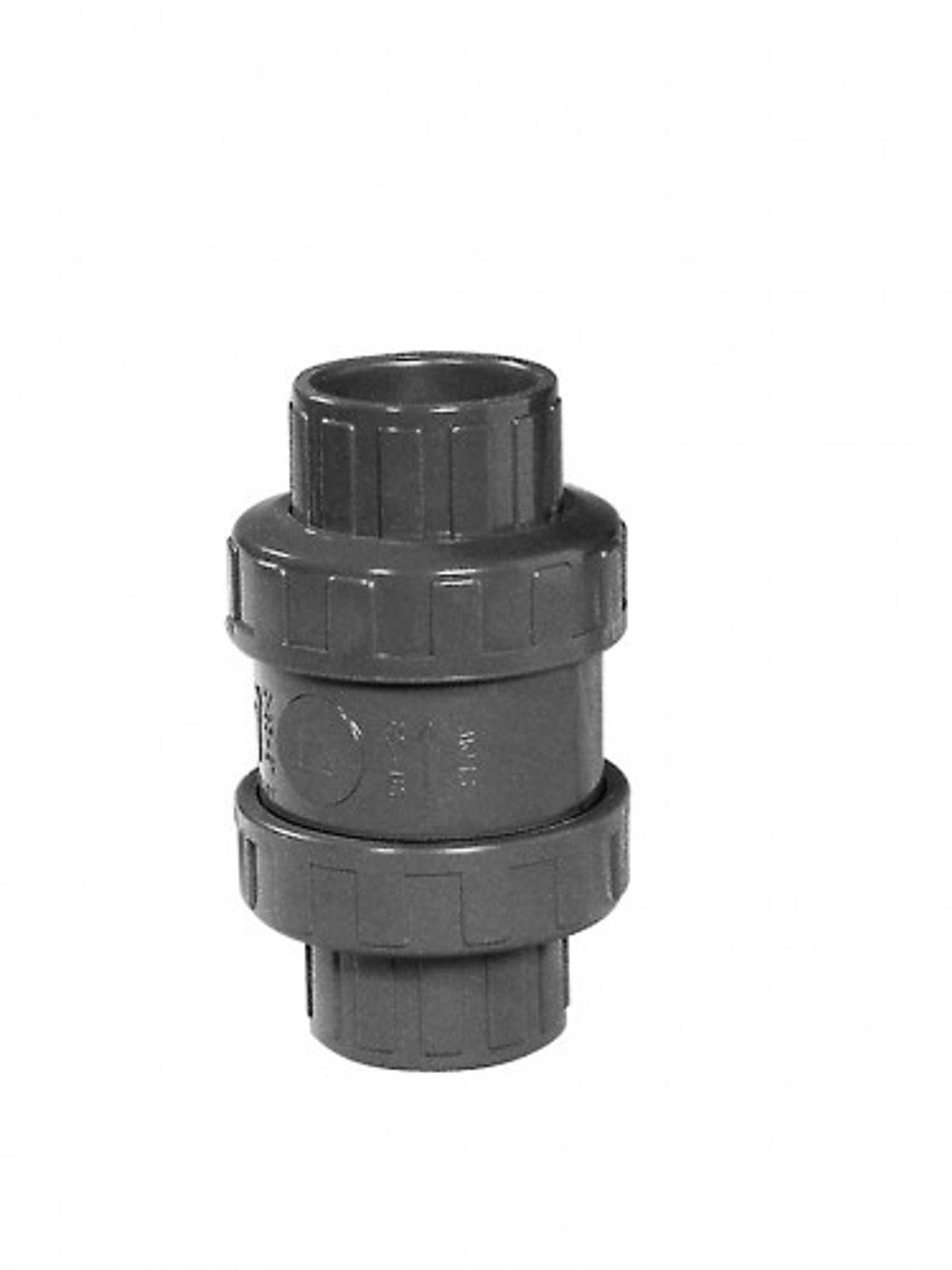 PVC-Rückschlagventil m. O-Ring, Ø 50 mm