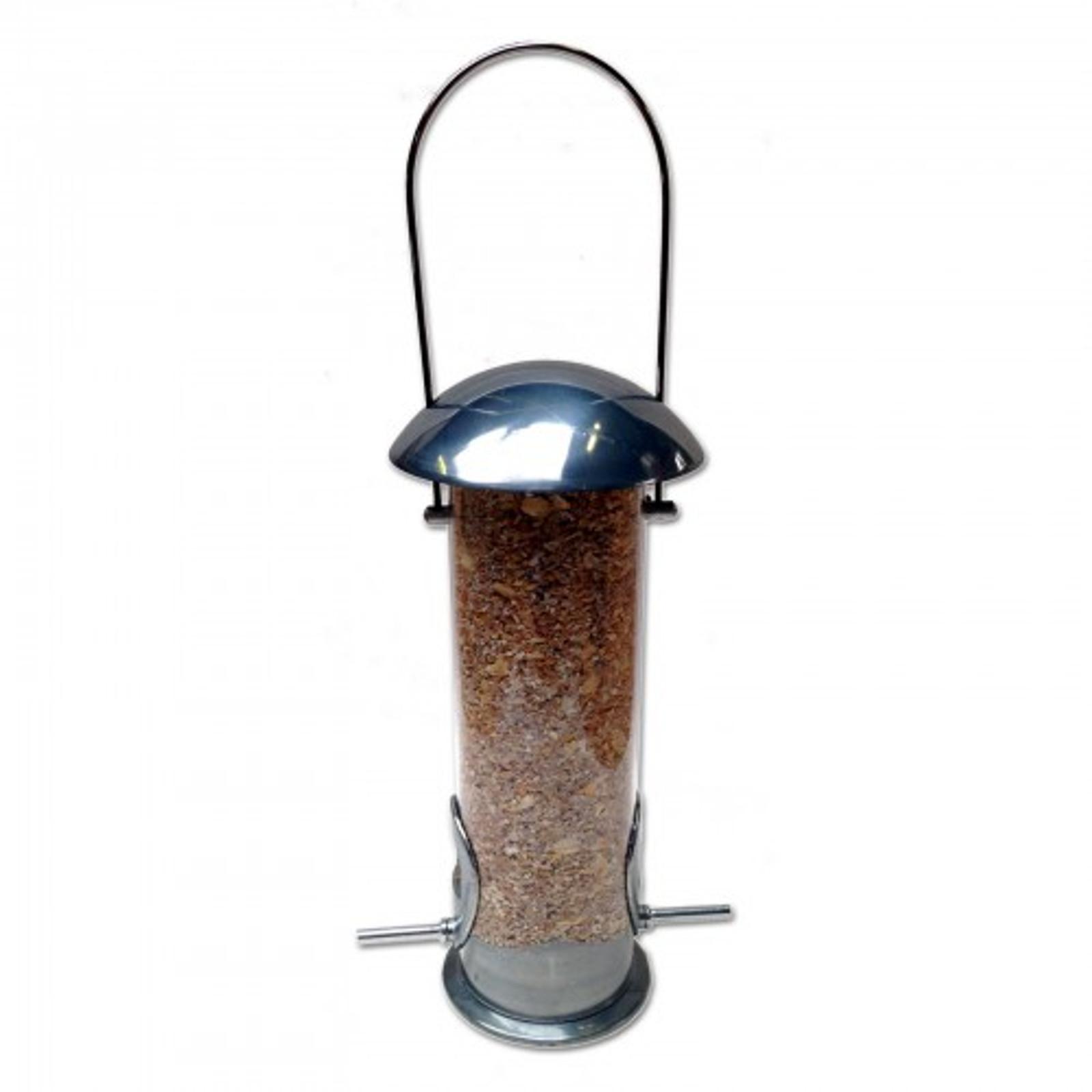 Futterspender für Samen, Futtermischungen, Erdnussbruch, Sonnenblumenkerne aus poliertem Aluminiumguss – Bild 3