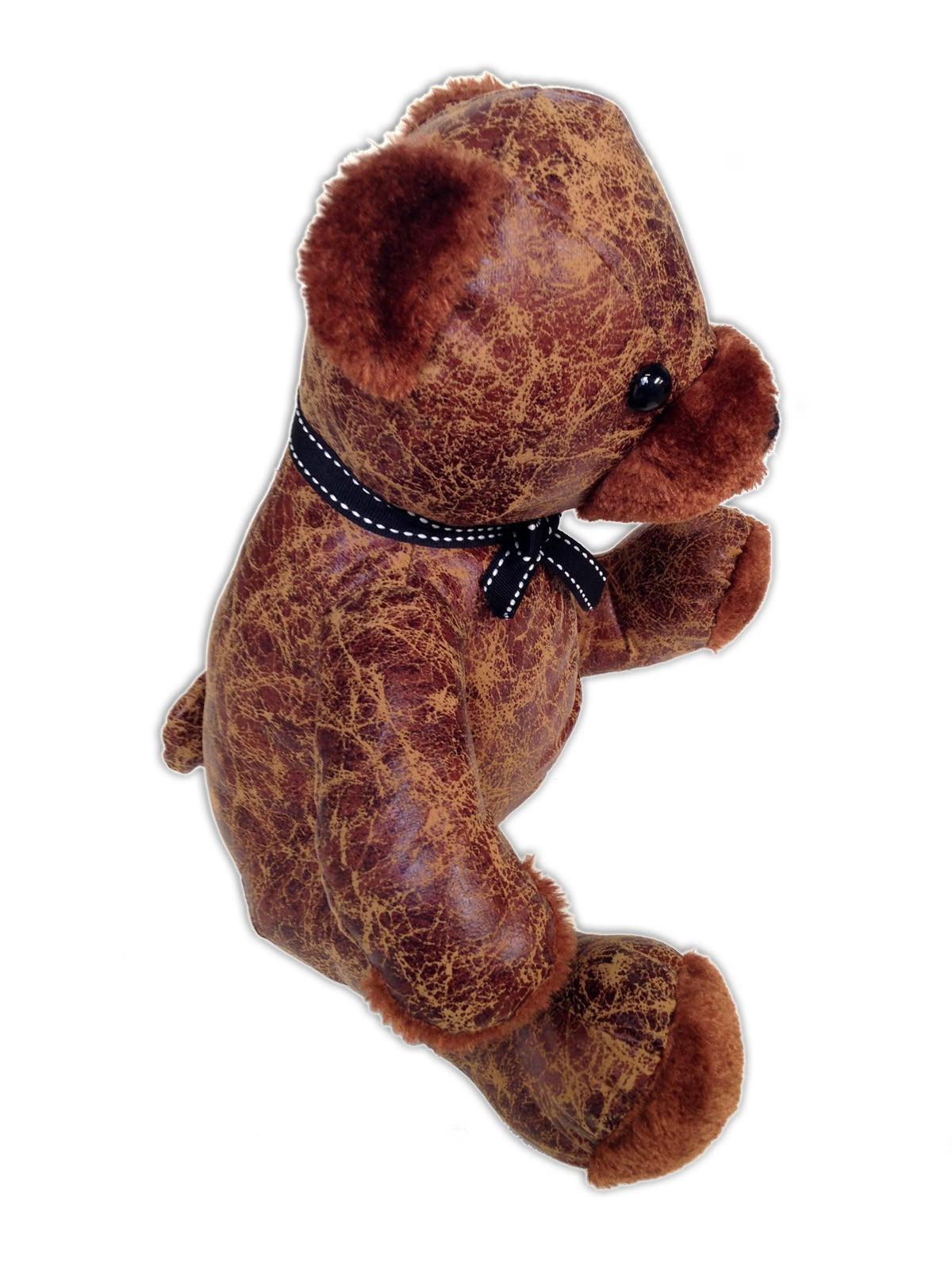 Türstopper TEDDY klein mit braunem Plüsch – Bild 2