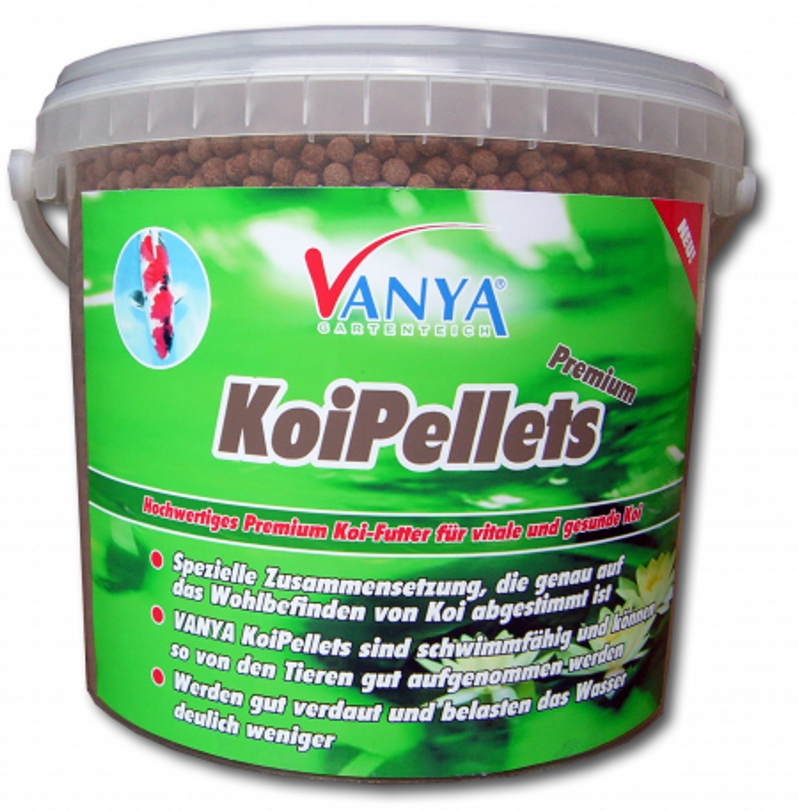 VANYA KoiPellets PREMIUM, 5 mm - 5.000 ml
