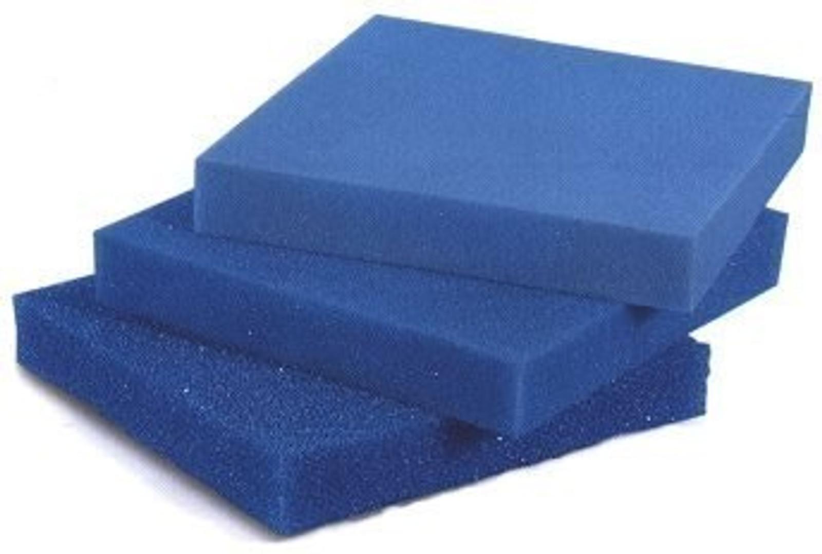 """Filterschaum Filtermatte -  Blau 50 x 50 x 10 cm """"fein"""" (ppi 30)"""