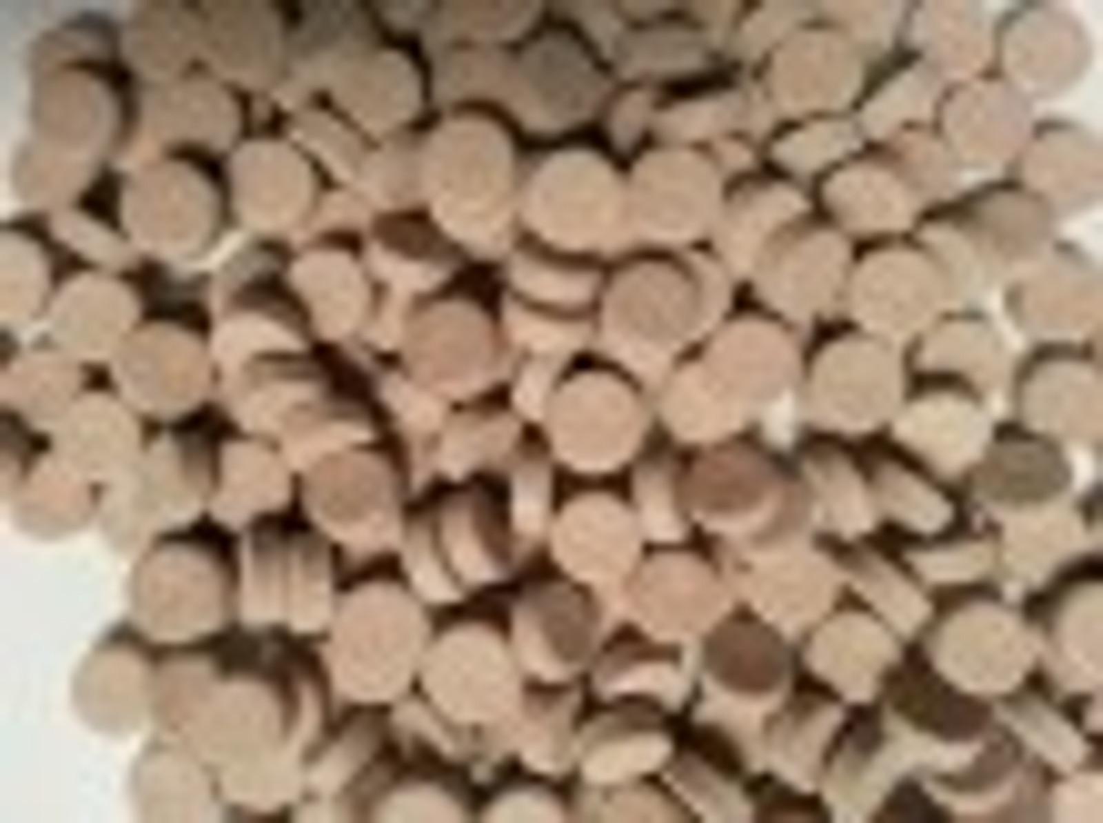 Aquaristik-Paradies Biofuttertabletten 375 g (ca. 500 ml) - verwendbar als Haft- und Bodentabletten