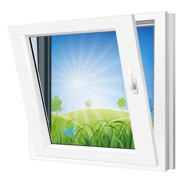 Fenster 500x500mm Kunststoff PVC, Bautiefe 60mm, 2-fach Glas, weiß, Dreh-Kipp Links o. Rechts – Bild 2