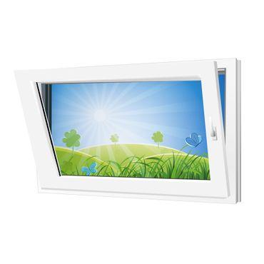 Fenster 600x500mm Kunststoff PVC, Bautiefe 60mm, 2-fach Glas, weiß, Dreh-Kipp Links o. Rechts – Bild 2