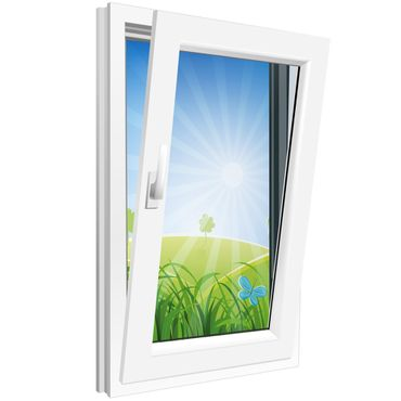 Fenster 600x800mm Kunststoff PVC, Bautiefe 60mm, 2-fach Glas, weiß, Dreh-Kipp Links o. Rechts – Bild 3