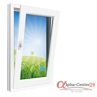 Fenster 600x900mm Kunststoff PVC, Bautiefe 60mm, 2-fach Glas, weiß, Dreh-Kipp Links o. Rechts – Bild 1