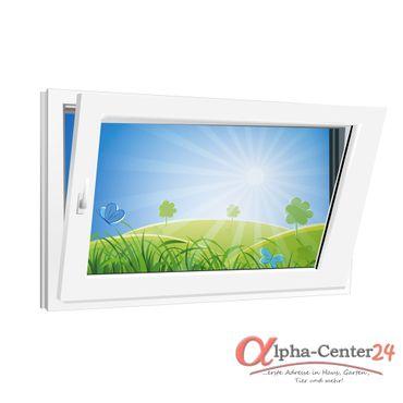 Fenster 800x500mm Kunststoff PVC, Bautiefe 60mm, 2-fach Glas, weiß, Dreh-Kipp Links o. Rechts – Bild 1