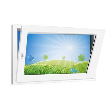 Fenster 800x500mm Kunststoff PVC, Bautiefe 60mm, 2-fach Glas, weiß, Dreh-Kipp Links o. Rechts – Bild 3