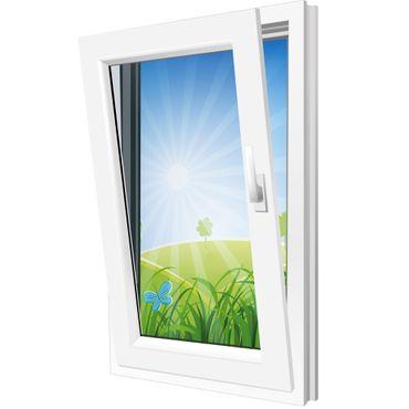 Fenster 900x1200mm Kunststoff PVC, Bautiefe 60mm, 2-fach Glas, weiß, Dreh-Kipp Links o. Rechts – Bild 2