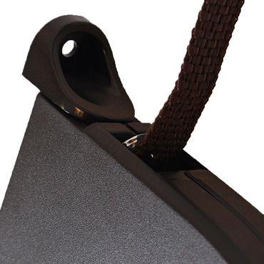 Aufschraubwickler Mini Aufputz Gurtwickler Rolladen braun, 5 m Gurtband Rolladengurt braun, Runddesign – Bild 6