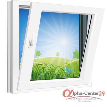 Fenster 750x750mm Kunststoff PVC, Bautiefe 70mm, 2-fach Glas, weiß, Dreh-Kipp Links o. Rechts – Bild 1