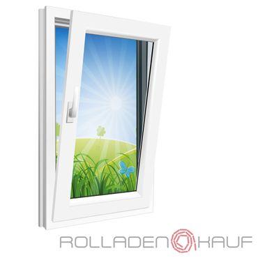 Fenster 750x900mm Kunststoff PVC, Bautiefe 70mm, 2-fach Glas, weiß, Dreh-Kipp Links o. Rechts – Bild 1