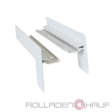 Abschluss für Klinker Endkappen Fensterbank Aluminium, Endstücke Paar Farbe und Ausladung wählbar – Bild 1