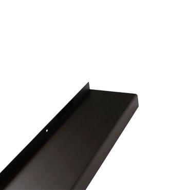 (10,01€/1m) Aluminium-Außen-Fensterbank Dunkelbronze E6 C34 Ausladung 110 mm, Länge wählbar – Bild 2