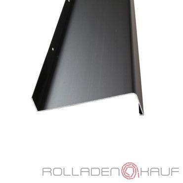 (15,05€/1m) Aluminium-Außen-Fensterbank Dunkelbronze E6 C34 Ausladung 180 mm, Länge wählbar – Bild 1