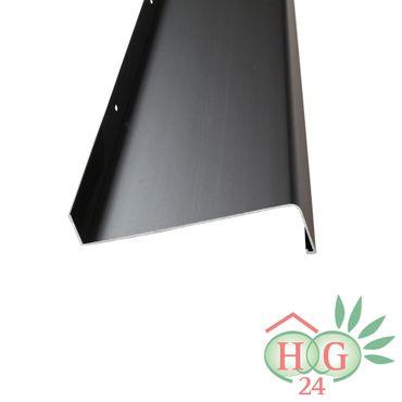 (21,29€/1m) Aluminium-Außen-Fensterbank Dunkelbronze E6 C34 Ausladung 240 mm, Länge wählbar – Bild 1