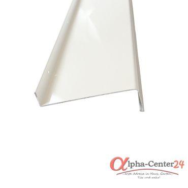 (7,86€/1m) Aluminium-Außen-Fensterbank Weiß RAL 9016 Ausladung 90 mm, Länge wählbar – Bild 1