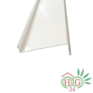 (12,20€/1m) Aluminium-Außen-Fensterbank Weiß RAL 9016 Ausladung 165 mm, Länge wählbar – Bild 1