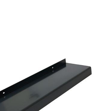 (24,27€/1m) Aluminium-Außen-Fensterbank Anthrazitgrau RAL 7016 Ausladung 260 mm, Länge wählbar – Bild 2