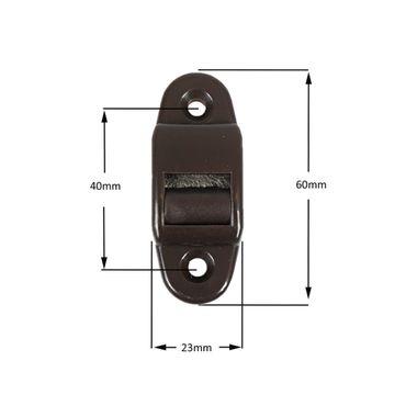10 x Aufschraubwickler Mini Aufputz Gurtwickler Rolladen braun, 5 m Gurtband Rolladengurt braun, Einzugautomatik bei Gurtbandwechsel inkl. Gurtdurchführung – Bild 3