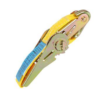 Inovatec Spanngurt Zurrgurt Ratschengurt 2-teilig 5m 400 / 800 daN 25mm Spannset Sicherung Gurt Gelb – Bild 5