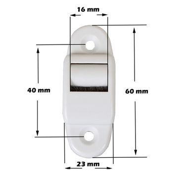Aufschraubwickler Mini Aufputz Gurtwickler Rolladen weiß, 5 m Gurtband Rolladengurt grau, Einzugautomatik bei Gurtbandwechsel inkl. Gurtdurchführung – Bild 3