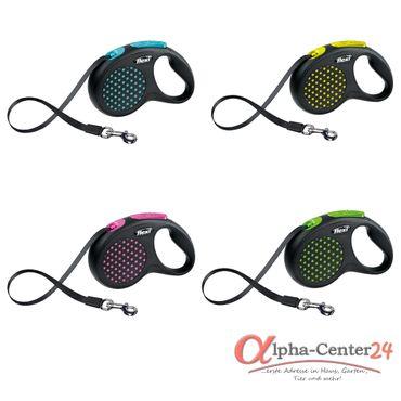Hundeleine flexi® Design Gr. S - L, Gurt, 5 m – Bild 1