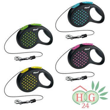 Hundeleine flexi® Design Gr. XS, Seil, 3 m – Bild 1