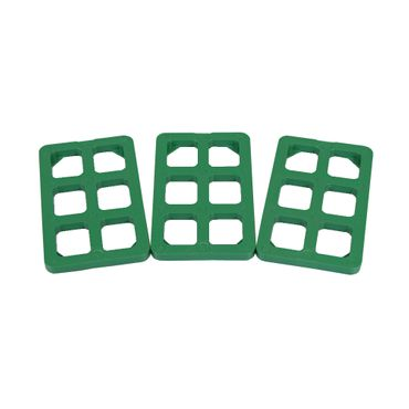250 x Inovatec Gitterklötze 80 x 50 x 5 mm grün Niveauausgleich Montage Lastabtrag – Bild 2