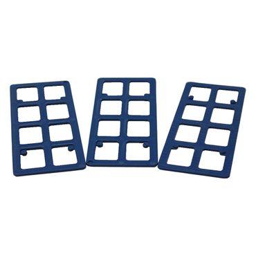 250 x Inovatec Gitterklötze 120 x 50 x 2 mm blau Niveauausgleich Montage Lastabtrag – Bild 2