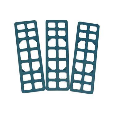 250 x Inovatec Gitterklötze 160 x 50 x 2 mm blau Niveauausgleich Montage Lastabtrag – Bild 2