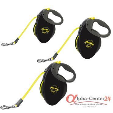 Hundeleine flexi® GIANT Neon, Gurt M-XL
