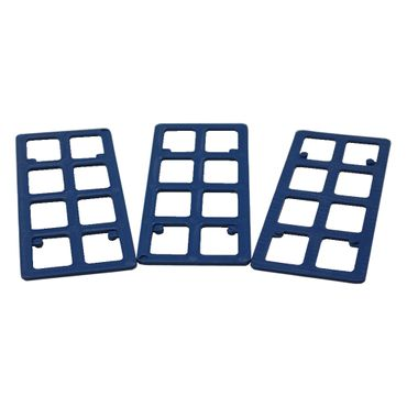 1000 x Inovatec Gitterklötze 120 x 50 x 2 mm blau Niveauausgleich Montage Lastabtrag – Bild 2