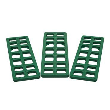 1000 x Inovatec Gitterklötze 160 x 50 x 5 mm grün Niveauausgleich Montage Lastabtrag – Bild 2