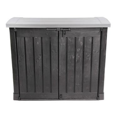 Keter Arc Mülltonnenbox Mülltonnenverkleidung Müllcontainer, Farbe: anthrazit / grau – Bild 3