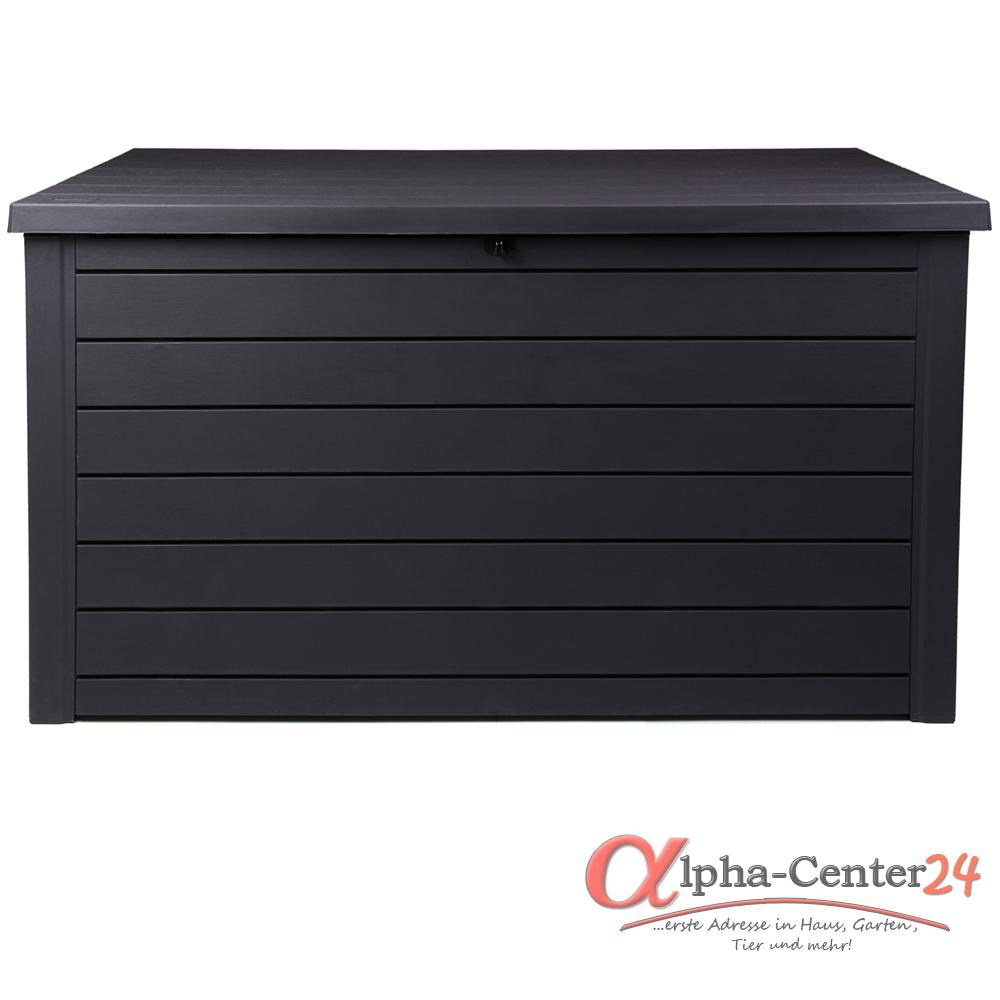 keter kissenbox ontario xxl 870l volumen farbe anthrazit garten auflagenboxen sitzb nke. Black Bedroom Furniture Sets. Home Design Ideas
