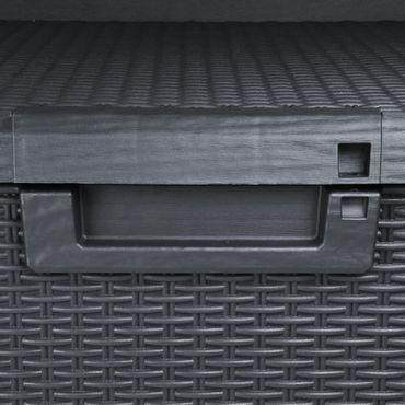 Toomax Santorini Kissenbox Gartenbox Aufbewahrungsbox, Farbe: anthrazit – Bild 6