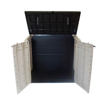 Keter Max Mülltonnenbox Mülltonnenverkleidung Müllcontainer, Farbe: braun / beige – Bild 2