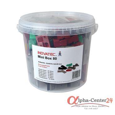 80 x Inovatec Kunststoff Keile, sechs verschiedene Größen 70-120 x 30-45 x 10-25 mm in praktischer Kunststoff Box – Bild 1